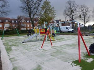 The new children's playground takes shape
