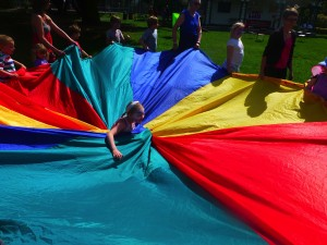 Parachute games were a big hit